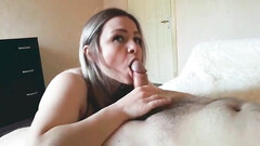 Blowjob and anal sex with sexy blonde wife and facial cumshot finish